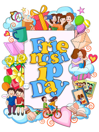 friendship day: vector illustration of Happy Friendship Day doodle