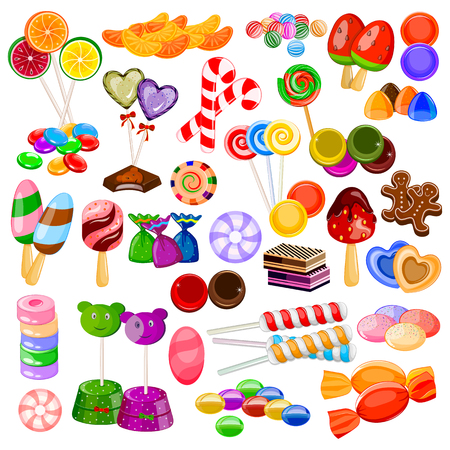 vector illustration of Assorted colorful Candy Collection