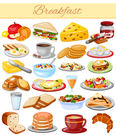 continental: vector illustration of Breakfast Menu Food Collection
