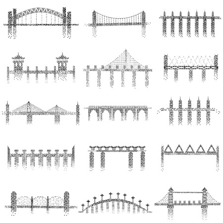 viaduct: vector illustration of different structure of bridge Illustration