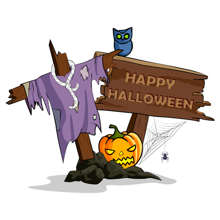 illustration of Happy Halloween holiday background