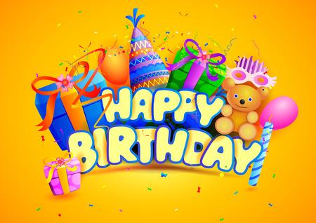 vector illustration of Happy Birthday wallpaper background