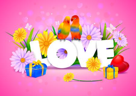 vector illustration of Love wallpaper background