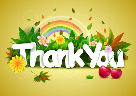 vector illustration of Thank You wallpaper background Illustration