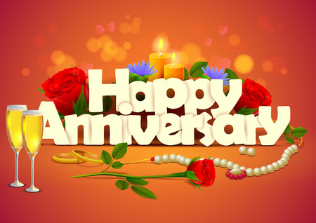 happy anniversary: vector illustration of Happy Anniversary wallpaper background