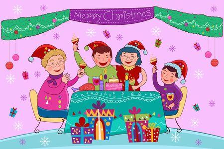 illustration vectorielle de fond de célébration de joyeuses fêtes de Noël