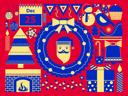 festive background: vector illustration of Merry Christmas festival celebration Holiday background Illustration