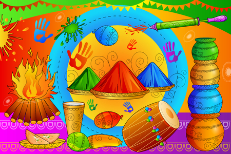 devotional: India Festival of Color Happy Holi background