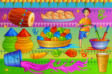 India Festival of Color Happy Holi background