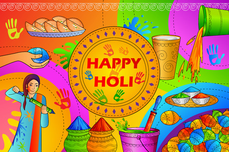 festive occasions: India Festival of Color Happy Holi background