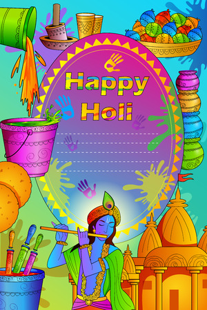 gulal india festival of color happy holi background