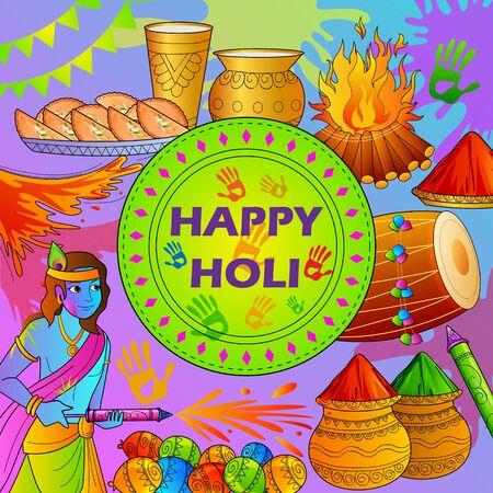 pichkari: India Festival of Color Happy Holi background