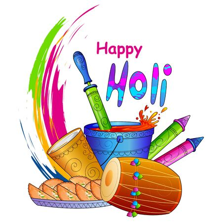 gulal: vector illustration of India Festival of Color Happy Holi background Illustration