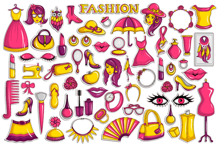 fashion collection: Sticker collection for beauty and fashion object