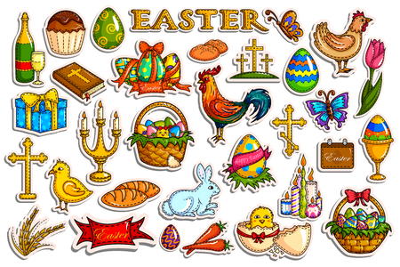 celebration: Sticker collection for Easter holiday celebration object