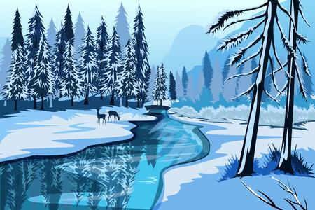 Nature Landscape scenery Background Illustration