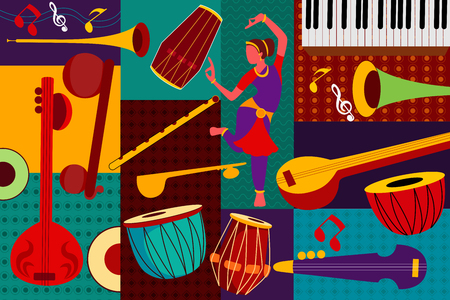 Résumé musique fond collage