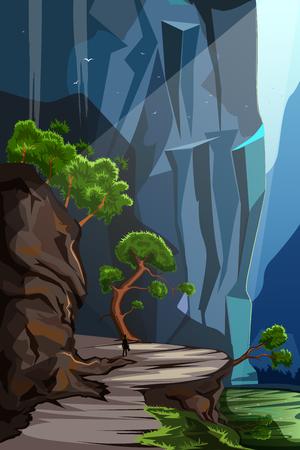 nature scenery: Nature Landscape scenery Background Illustration