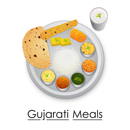 Plate full of delicious Gujrati Meal