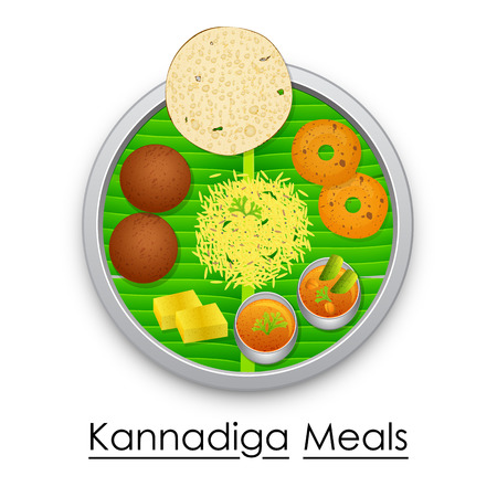Plate full of delicious Kannadiga Meal