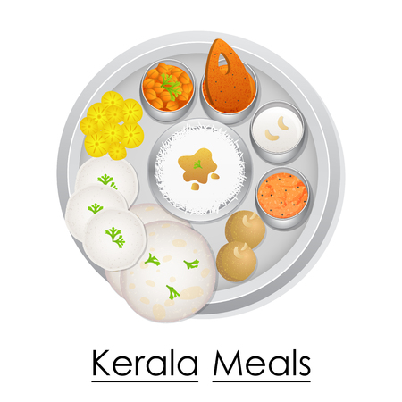 Plate full of delicious Kerala Meal