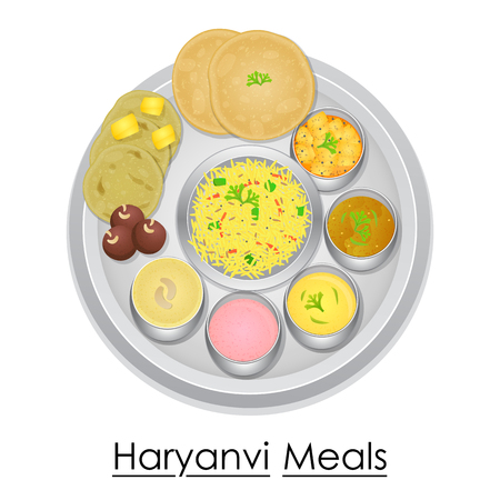 Plate full of delicious Haryanvi Meal