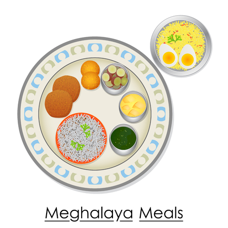boiled: Plate full of delicious Meghalaya Meal