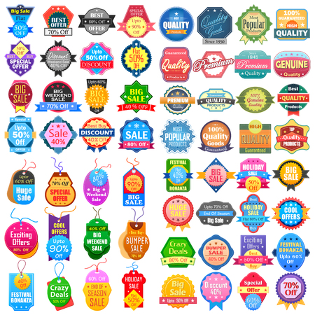 Sale and Promotion label tag sticker for Advertisement