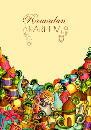 Ramadan Kareem Blessing for Eid background. Illustration