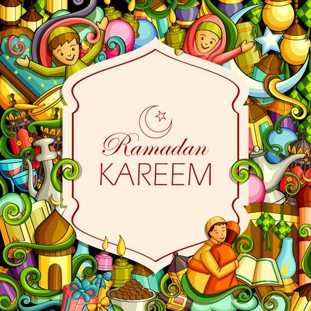 Eid Mubarak Blessing for Eid background. Ilustração