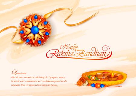 vector illustration of decorated rakhi for Indian festival Raksha Bandhan Çizim