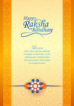 vector illustration of decorated rakhi for Indian festival Raksha Bandhan Illustration
