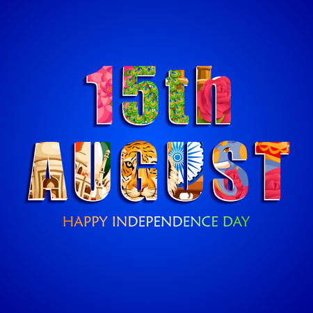 celebration background: A vector illustration of Indian tricolor background for 15th August Happy Independence Day of India.