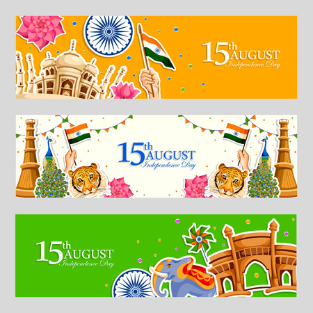 A vector illustration of Indian tricolor background for 15th August Happy Independence Day of India.