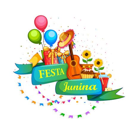 midsummer: Festa Junina celebration background of Brazil and Portugal festival