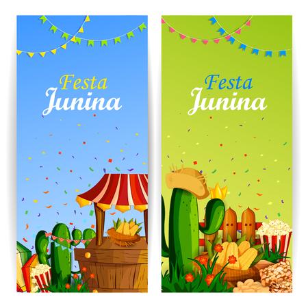 feast: vector illustration of Festa Junina celebration background of Brazil and Portugal festival
