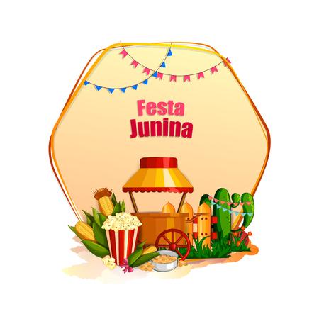Festa Junina celebration background of Brazil and Portugal festival