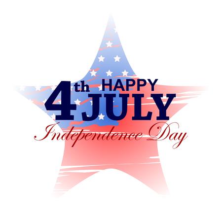 アメリカの幸せな独立記念日の 7 月の祭典の第 4 回  イラスト・ベクター素材