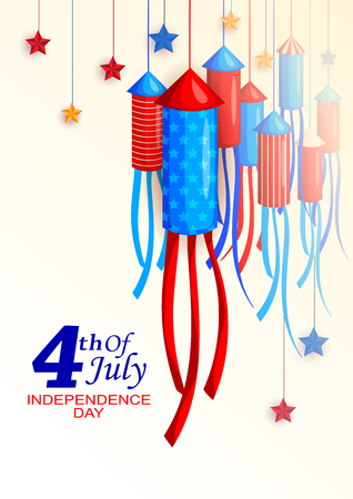 4th of July celebration for Happy Independence Day of America Illustration
