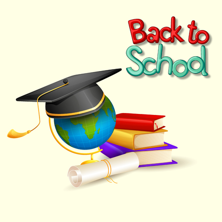 Back to School concept with education book Illustration