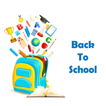vector illustration of Back to School concept with education book