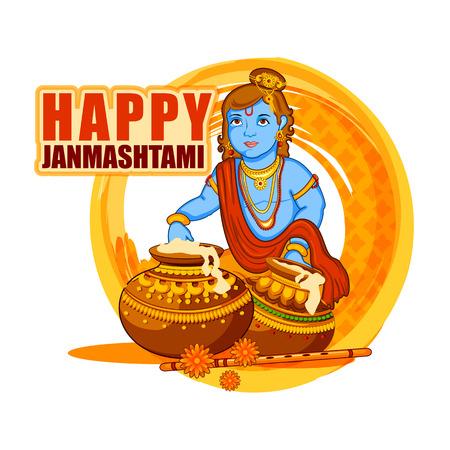 Lord Krishna stealing makhaan in Happy Janmashtami