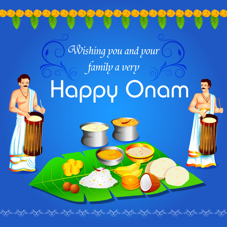 Happy Onam Festival background of Kerala