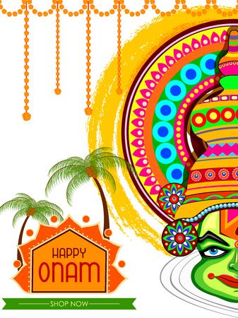 Happy Onam Big Shopping Sale Advertisement background Stock Vector - 84651363