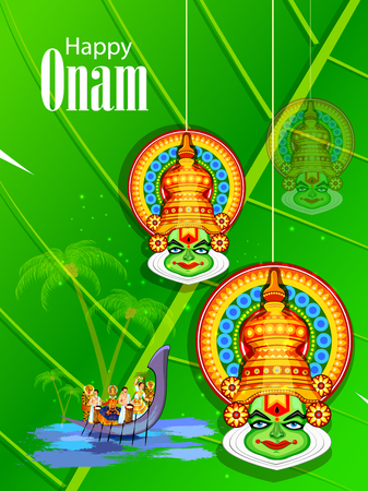Happy Onam Festival vector. Illustration