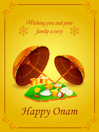 Happy Onam Festival background Banque d'images - 84570661