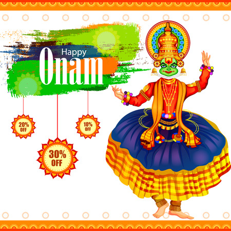 Happy Onam Big Shopping Sale Advertisement background