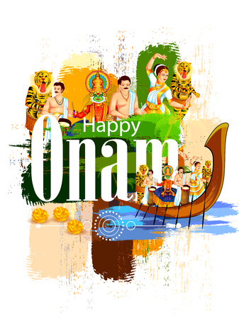 Happy Onam Festival vector. 矢量图像