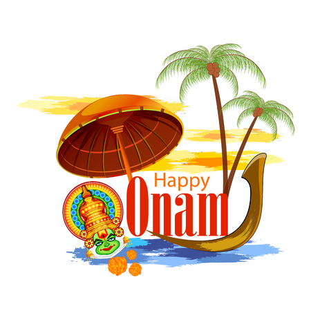 sravanmahotsav: Happy Onam Festival vector. Illustration