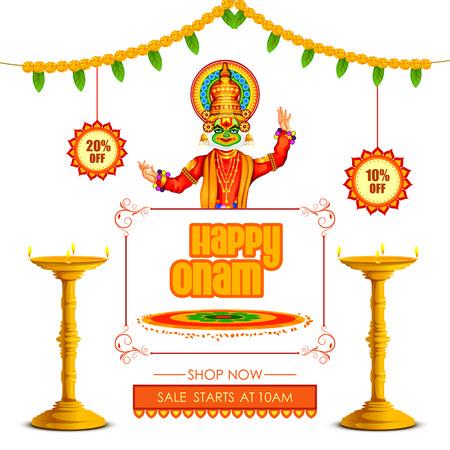 Happy Onam Big Shopping Sale Advertisement background